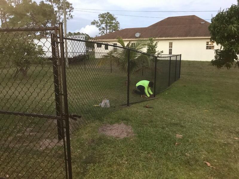 mirmar florida chain link fence installation