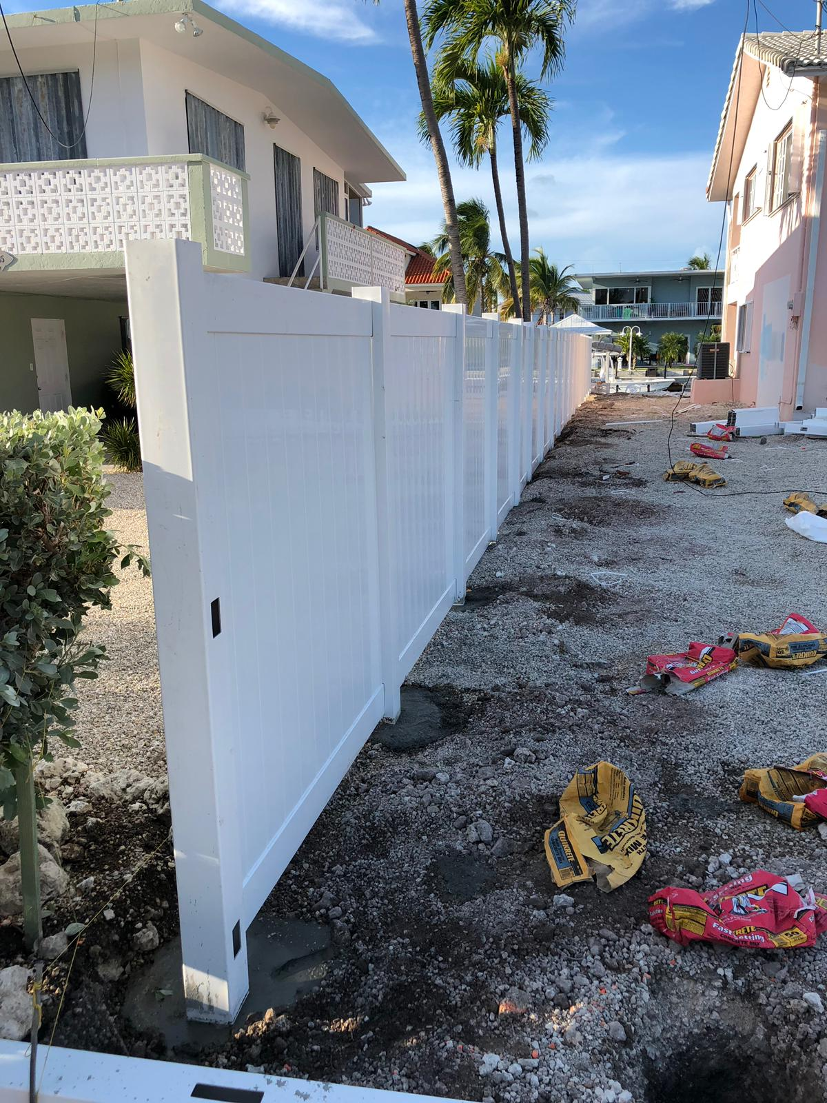 a commercial fence installation in miramar florida by Fence Builders