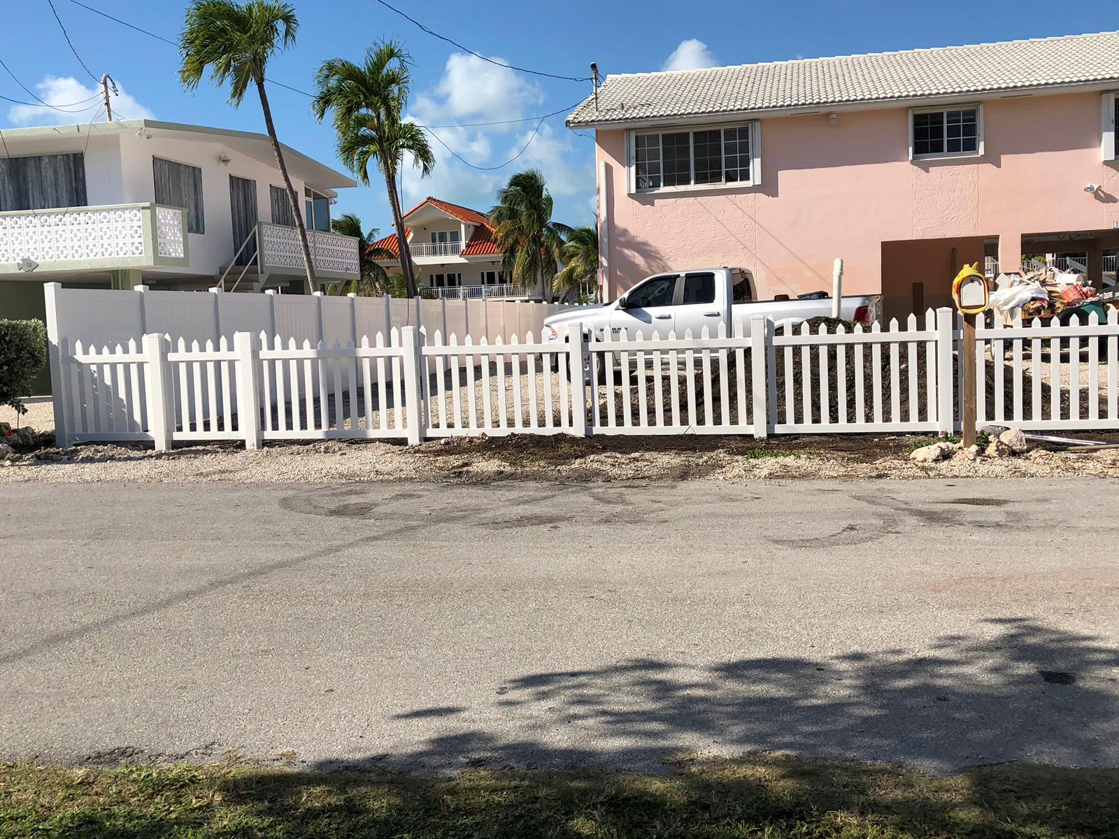 commercial fence installation job in Miramar Florida