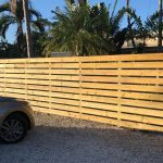 horizontal wood fence in miramar