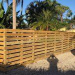 horizontal wood fence installation