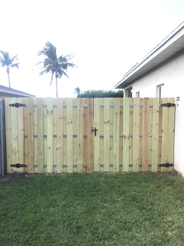 a new residential fence installation in Miramar FL